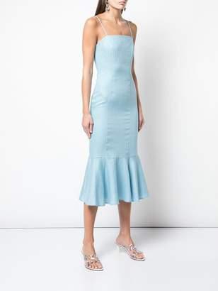STAUD mermaid fitted midi dress