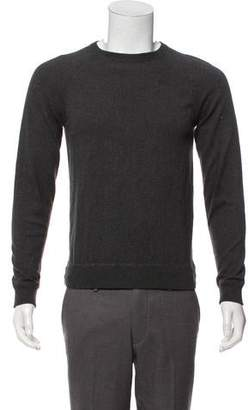 Vince Ribbed Trim Crew Neck Sweater