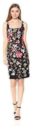 Nicole Miller New York Women's Sleeveless Embroidered Bodycon Dress