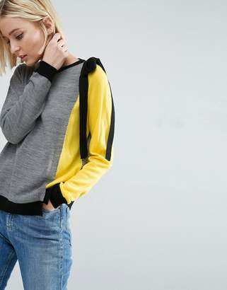 ASOS Sweater In Color Block With Ties $43 thestylecure.com