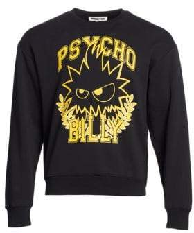 McQ Men's Oversized Psycho Billy Sweatshirt - Darkest Black - Size XXL