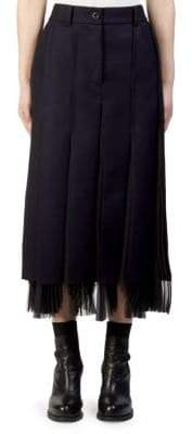 Sacai Melton Pleated Midi Skirt