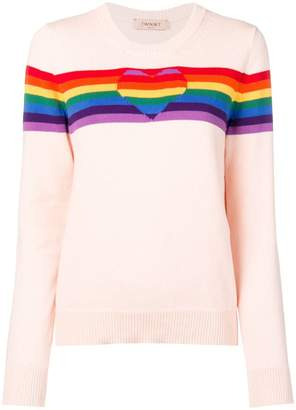 Twin-Set rainbow intarsia jumper