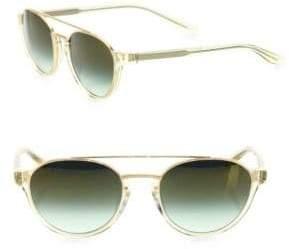 Barton Perreira Men's Boleyn Champagn 53MM Round Aviator Sunglasses - Champagne