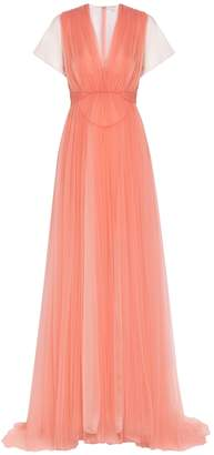 DELPOZO Embellished Tulle Gown