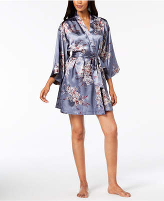 Thalia Sodi Printed Woven Short Wrap Robe, Created for Macy's
