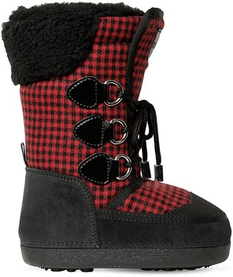 DSQUARED2 Check & Suede Boots