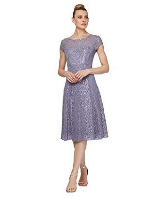 70fdbed5 SL Fashions Women's Sequin Lace Fit and Flare Dress
