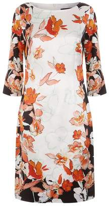 St. John Floral Shift Dress