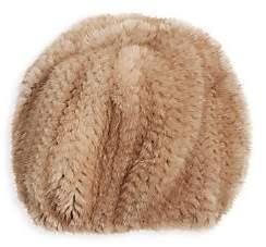 The Fur Salon Women's Knit Mink-Fur Hat