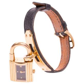 Hermes Kelly Lock yellow gold watch