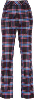 Matthew Adams Dolan Checked Wool Trousers