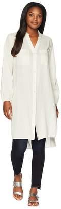Jones New York Long Tunic w/ Split Sleeves Women's Blouse
