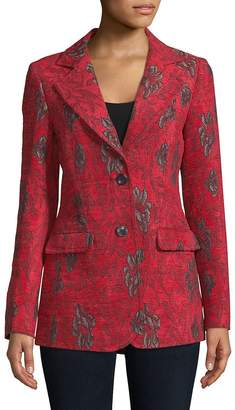 Derek Lam Women's Notch Lapel Printed Jacket