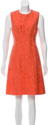 Lela Rose Silk Blend Sleeveless Dress