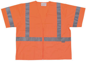 Condor High Visibility Vest,Class 3,3XL,Orange 1YAT7