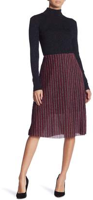 ECI Metallic Glitter Pleated Skirt