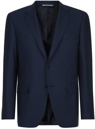 Canali Travel Wool-Hopsack Blazer
