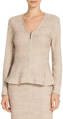 St. John Shantung Chevron Knit Jacket