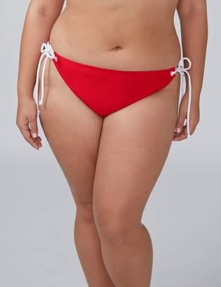 Lane Bryant Textured Swim String Bikini Bottom