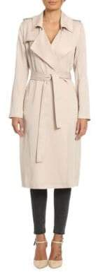Badgley Mischka Belle Angelina Solid Trench Coat