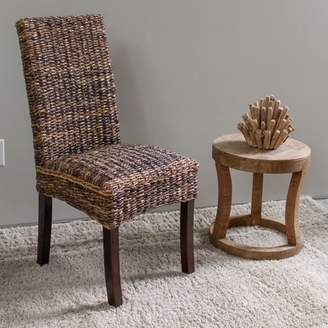 Aba'ca International Caravan Louisa Abaca Cushioned Seat Dining Chair with Mahogany Hardwood Frame - Salak Brown