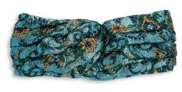 Gucci Gucci Floral-Embroidered Metallic Headband