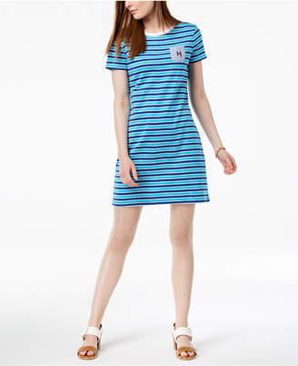 Tommy Hilfiger Cotton Striped Chambray-Pocket Dress, Created for Macy's
