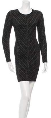 Torn By Ronny Kobo Metallic Knit Dress