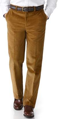 Charles Tyrwhitt Yellow Classic Fit Jumbo Cord Cotton Tailored Pants Size W32 L30