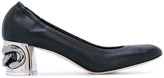 Casadei chain heel pumps
