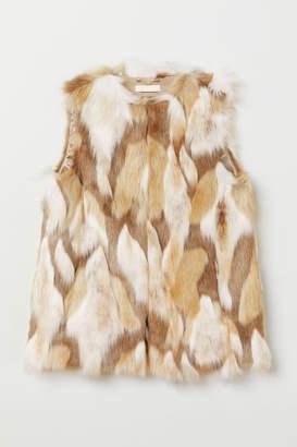 H&M Faux Fur Vest - White