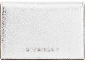 Givenchy Pandora Small Metallic Textured-leather Wallet - Silver