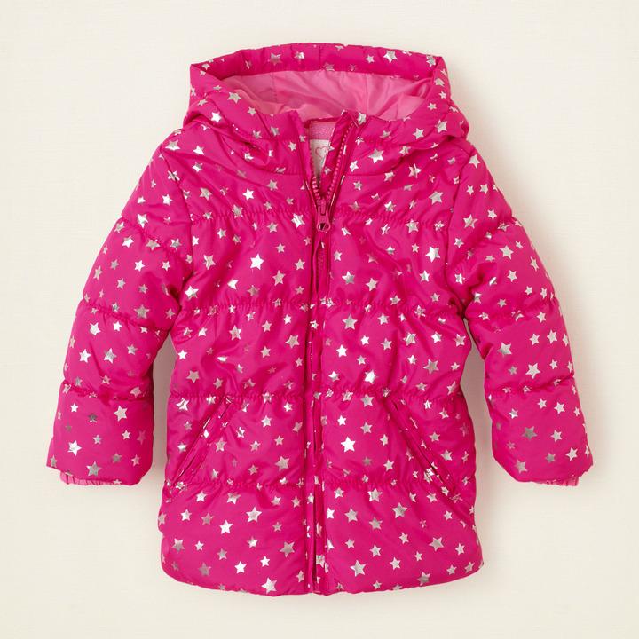 Children's Place Star puffer coat