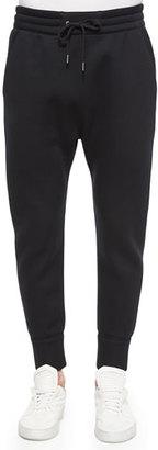 Helmut Lang Basic Fleece Track Pants, Black $335 thestylecure.com
