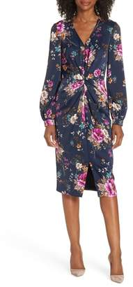 Maggy London Charmeuse Floral Dress