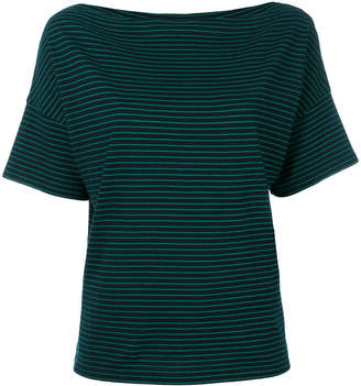 Vince square neck striped T-shirt