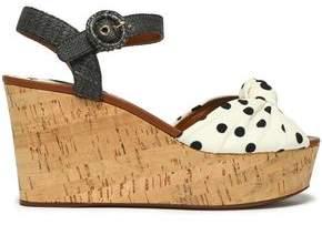 Dolce & Gabbana Printed Knotted Cady Platform Sandals