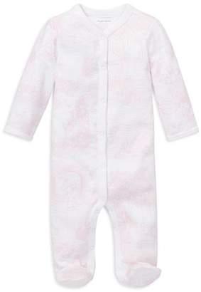 Ralph Lauren Girls' Bear-Print Cotton Coverall - Baby