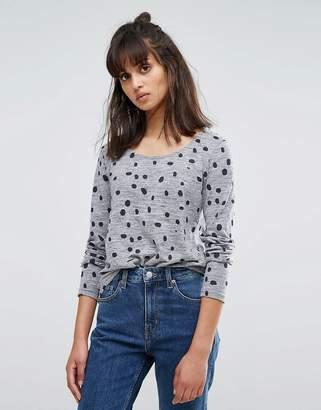 Ichi Inky Spot Long Sleeve T-Shirt