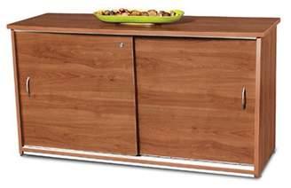 OFM Model 55135 2-Shelf Sliding Door Credenza, Cherry