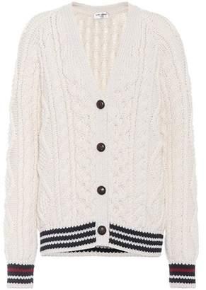 Saint Laurent Cable Knit wool cardigan