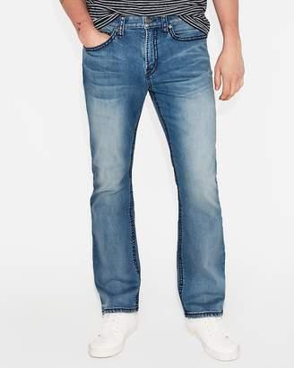 Express Classic Boot Medium Wash Thick Stitch Stretch Jeans