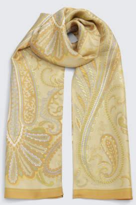 BPQC (ビーピーキューシー) - ビー ピー キュー シー シルクツイルプチロングペイズリー柄シルクスカーフ