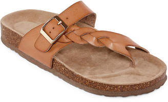 Arizona Fulton Womens T-Strap Footbed Sandals