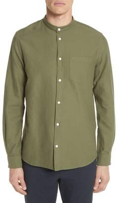 Norse Projects Hans Oxford Ripstop Band Collar Shirt