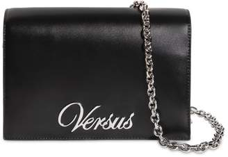 Versus Logo Leather Shoulder Bag