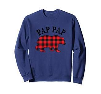 Buffalo David Bitton Red Plaid PapPap Bear Matching Couple Xmas Pajama Sweatshirt