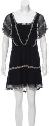 Temperley London Embellished Silk Dress