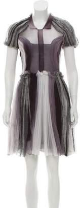 Rodarte Silk Mesh Dress